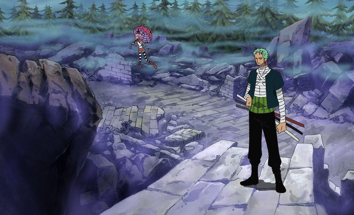 In alle Winde verstreut (4)! - Das riesige Grabkreuz und die Unterhosen-Show. - Bildquelle: Eiichiro Oda/Shueisha, Toei Animation