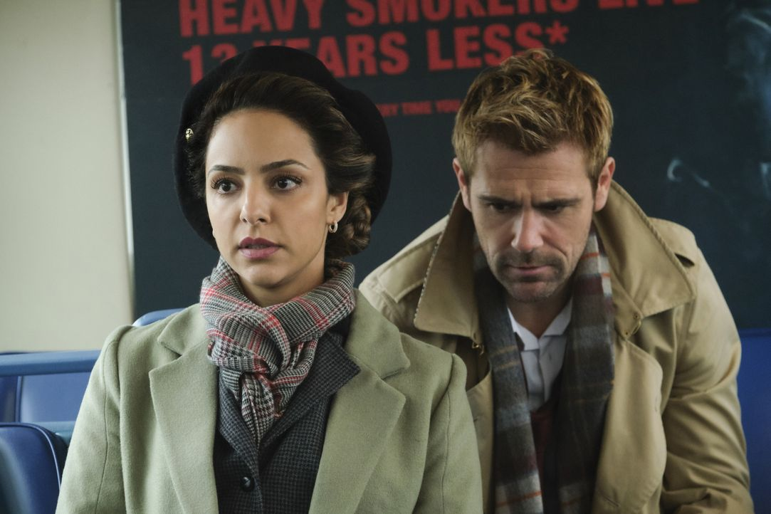 Zari (Tala Ashe, l.); John Constantine (Matt Ryan, r.) - Bildquelle: 2019 The CW Network, LLC. All rights reserved.