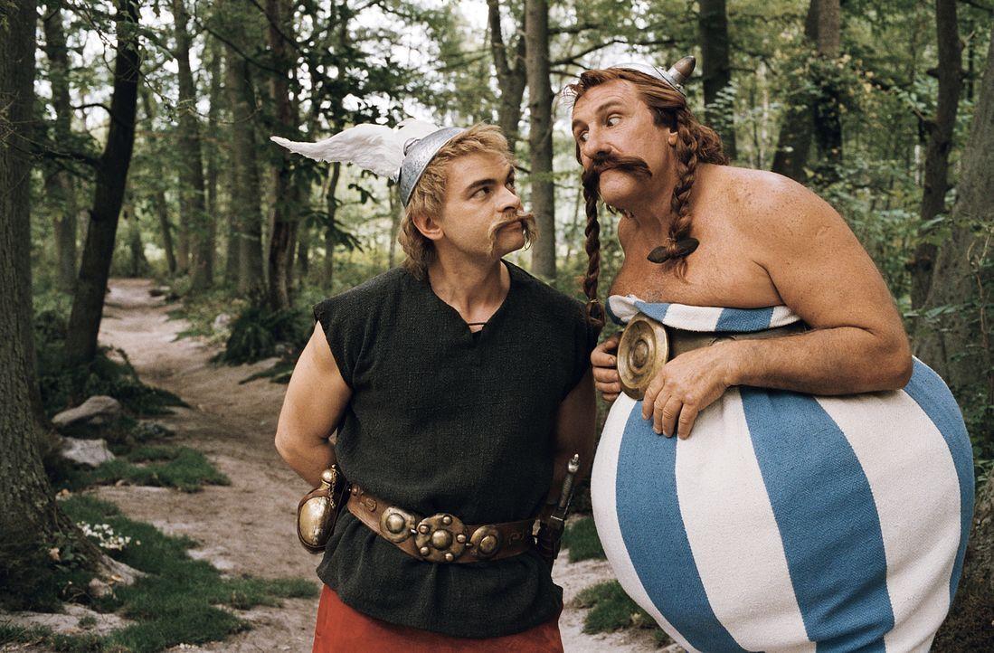 Haben mal wieder ein logistisches Problem: Zuerst auf Wildschweinjagd gehen und dann Römer verhauen oder zuerst die Römer aus dem Wald vertreiben un... - Bildquelle: Constantin Film