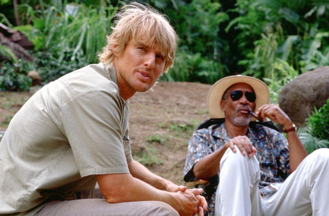 Richter Walter Crewes (Morgan Freeman, r.) steht auf Kriegsfuss mit dem Mafioso Ritchie und wünscht sich nichts mehr, als diesem mal so richtig eins... - Bildquelle: Warner Bros.