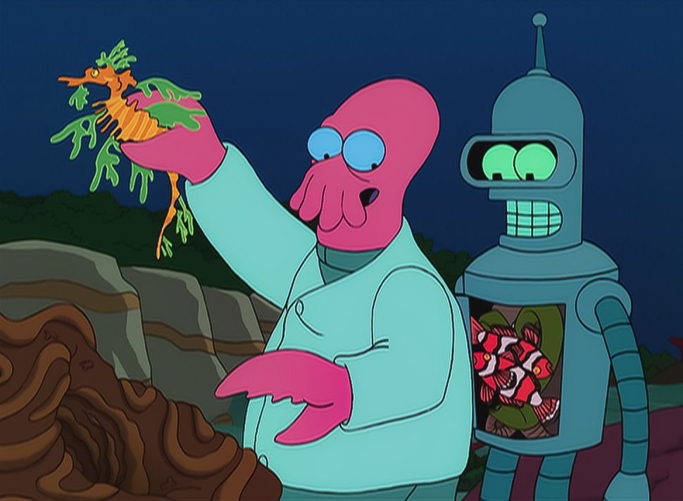 Dr. Zoidberg (l.); Bender (r.) - Bildquelle: 1999 Fox and its related entities. All rights reserved.