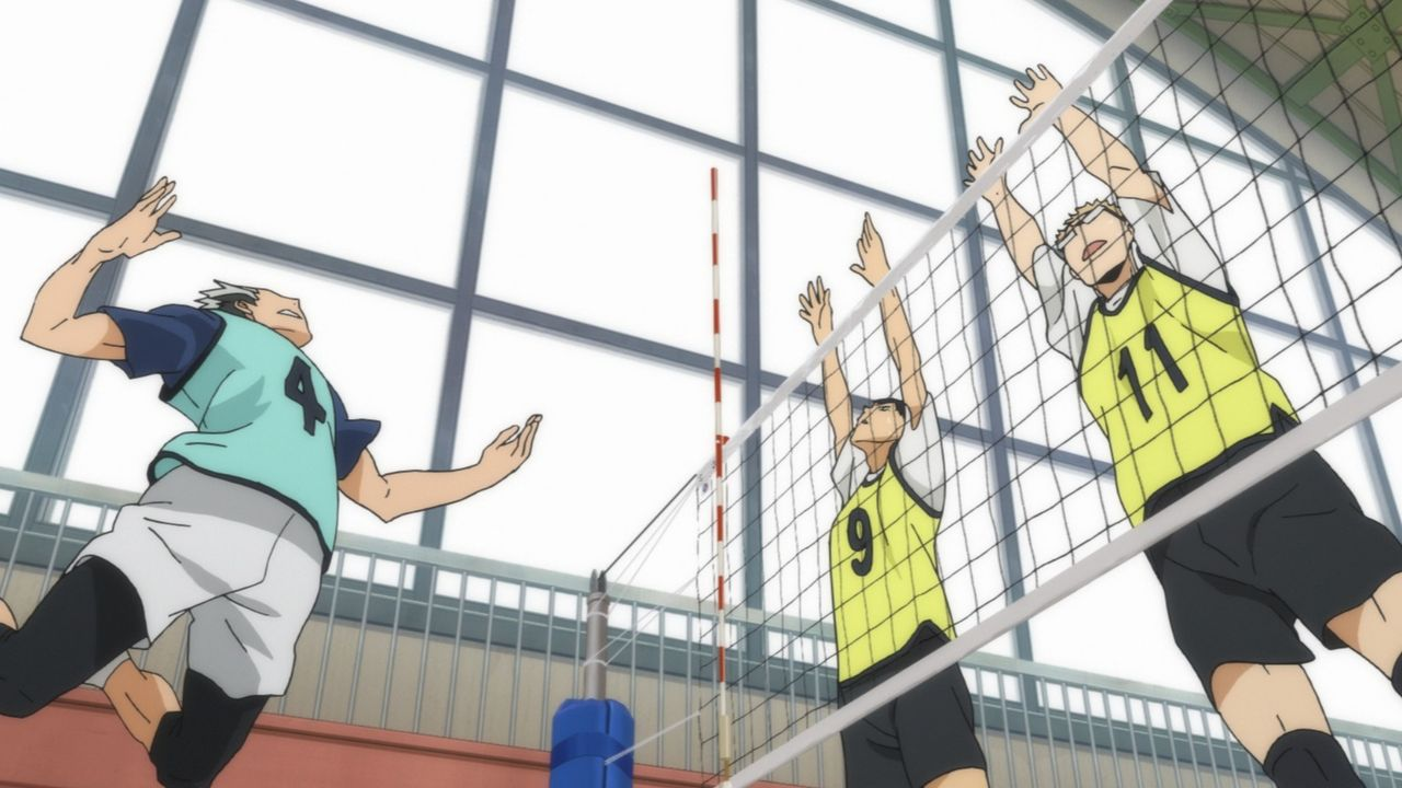 "(v.l.n.r.) Koaro Bokuto; Tobio Kageyama; Kei Tsukishima - Bildquelle: H. Furudate / Shueisha, ""HAIKYU!! 2nd Season"" Project, MBS  All Rights Reserved."