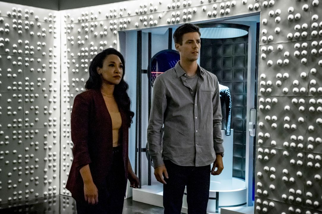 Iris (Candice Patton, l.): Barry (Grant Gustin, r.) - Bildquelle: Katie Yu 2019 The CW Network, LLC. All rights reserved. / Katie Yu