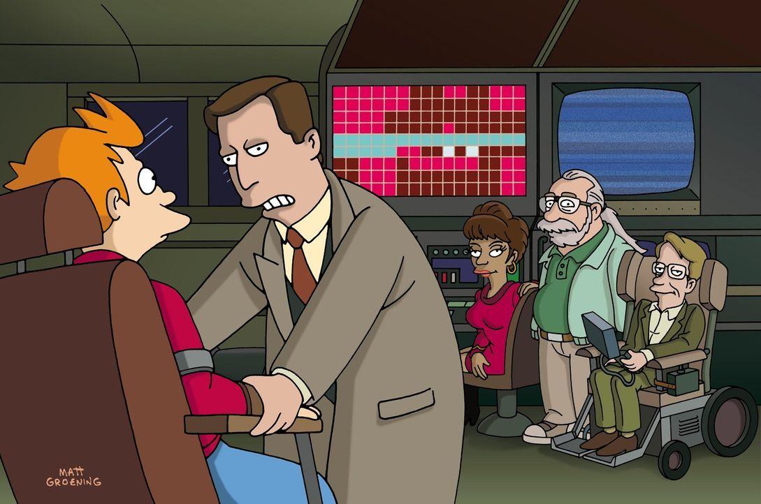 """Die """"Was wäre Wenn""""-Maschine des Professors sorgt bei Fry (l.) für ernsthafte Probleme ... - Bildquelle: und TM Twenthieth Century Fox Film Corporation - Alle Rechte vorbehalten"""