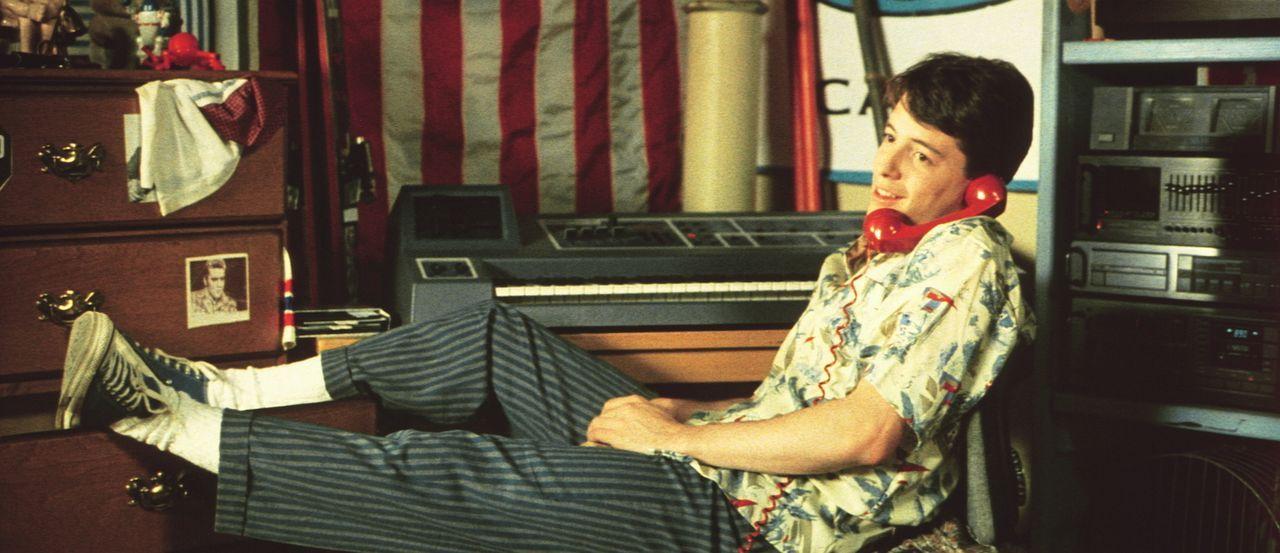 Null Bock auf Schule. Deshalb unternimmt Ferris (Matthew Broderick) mit seinen Freunden eine kleine Spritztour nach Chicago ... - Bildquelle: Paramount Pictures