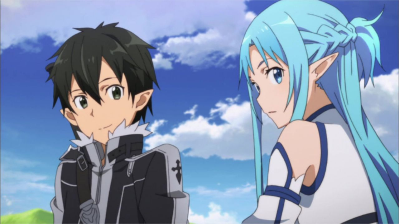 (v.l.n.r.) Kirito; Asuna - Bildquelle: REKI KAWAHARA/PUBLISHED BY KADOKAWA CORPORATION ASCII MEDIA WORKS/SAO II Project