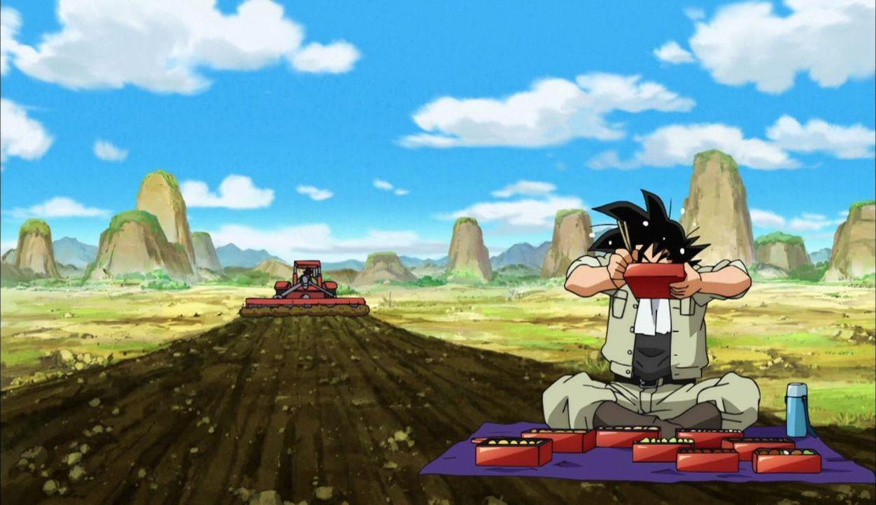 Son Goku bei seiner liebsten Beschäftigung: beim Essen - Bildquelle: BIRD STUDIO/SHUEISHA, TOEI ANIMATION