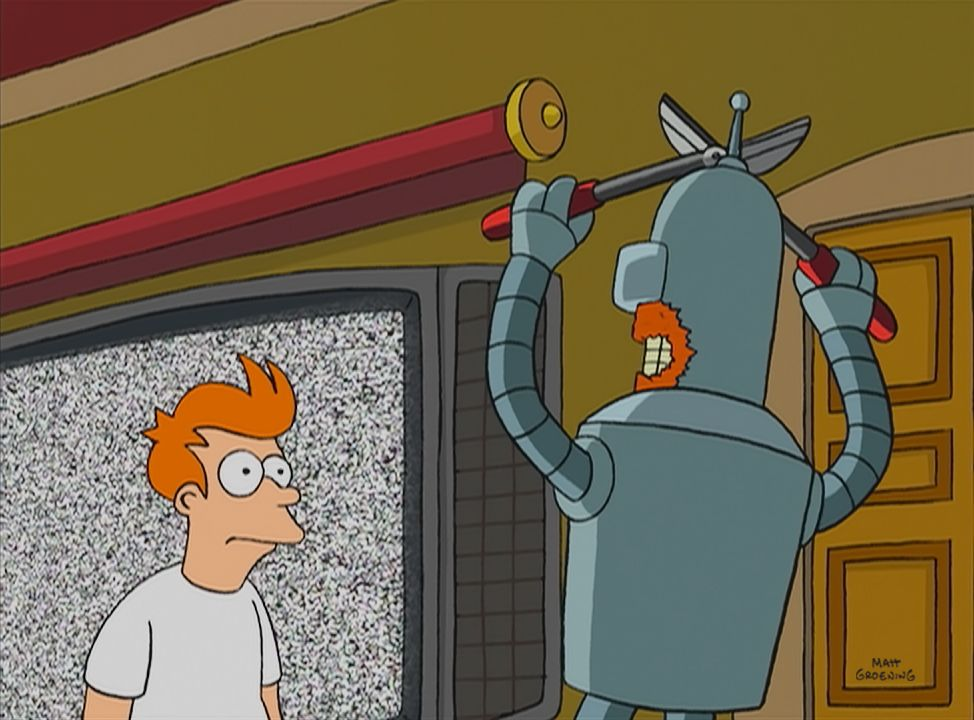 Fry (l.); Bender (r.) - Bildquelle: 1999 Fox and its related entities. All rights reserved.