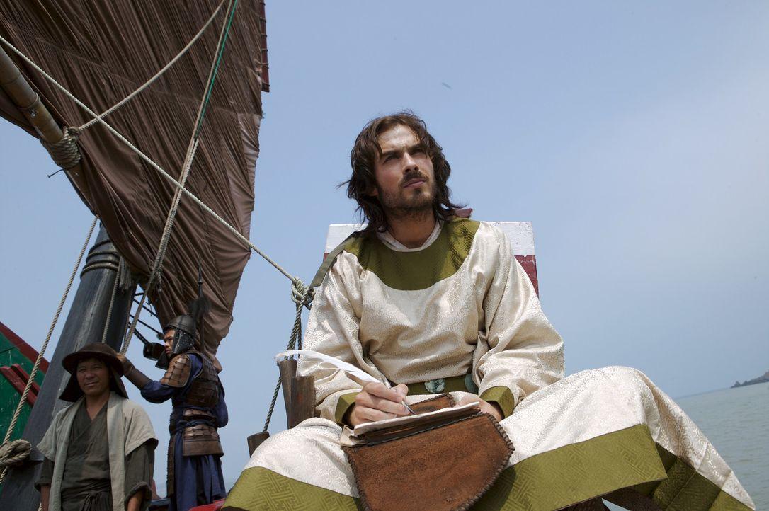 Zwei Jahrzehnte als Fremder im großen Reich des Kublai Khans. Marco Polo (Ian Somerhalder) notiert seine zahlreichen Erlebnisse. - Bildquelle: 2006 RHI Entertainment Distribution, LLC