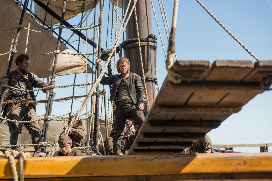 Ned Low (Tadhg Murphy) ist ein gefürchteter Pirat, der für seine Grausamkeiten bekannt ist ... - Bildquelle: David Bloomer 2015 Starz Entertainment LLC, All rights reserved.