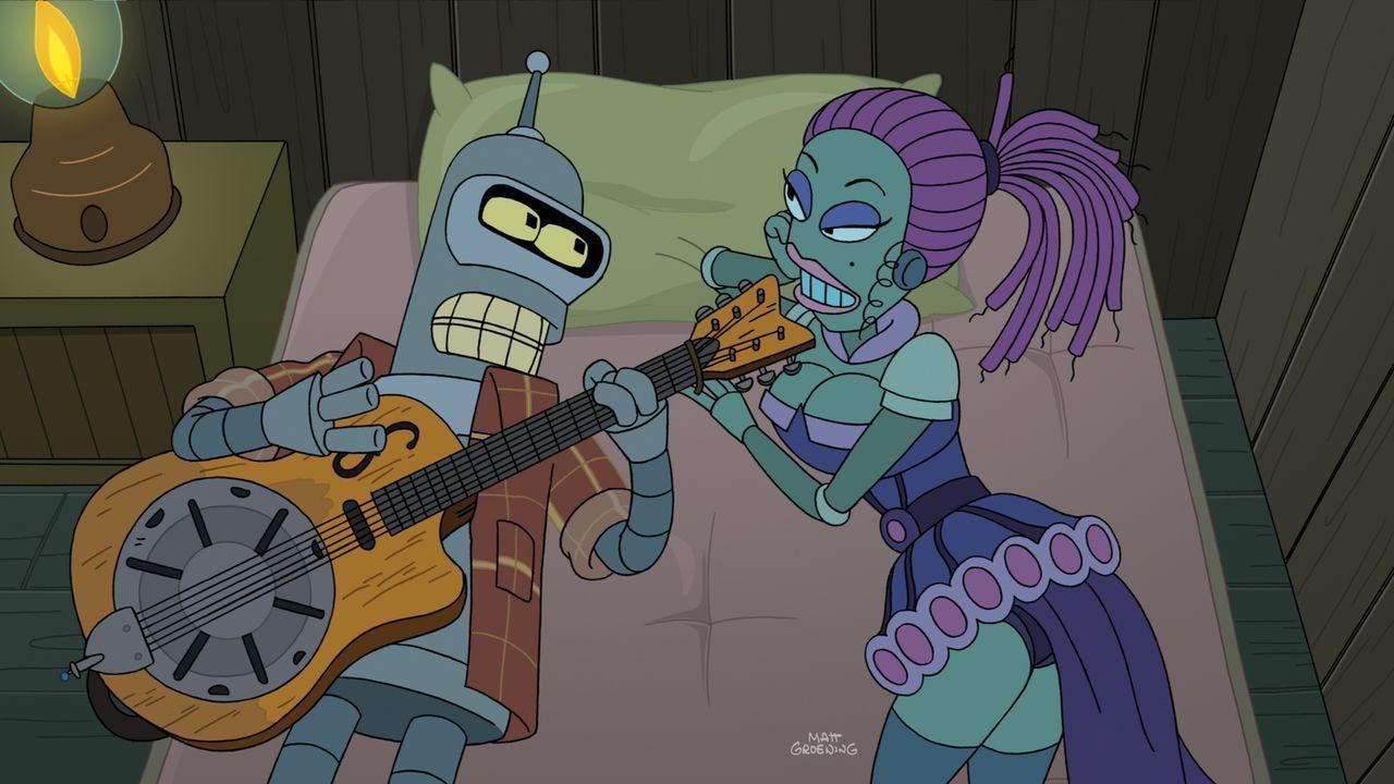 Schon immer wollte Bender (l.) ein Folk-Star werden. Jetzt scheint der Traum in Erfüllung zu gehen. Mit einem 3D-Drucker hat er sich eine Kopie der... - Bildquelle: Twentieth Century Fox Film Corporation. All rights reserved.