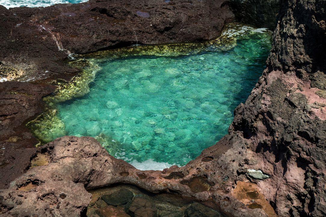 Dieser natürliche Pool befindet sich auf Maui im Zentralpazifik. Neben Traumstränden und türkisblauem Wasser bietet die Natur noch weitere traumhaft... - Bildquelle: Liz Barney 2016,The Travel Channel, L.L.C. All Rights Reserved