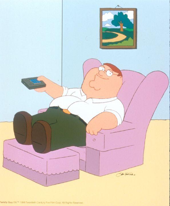 (2. Staffel) - Peters Lieblingsbeschäftigung: Auf seinem Sessel fernsehen! - Bildquelle: TM +   1998 Twentieth Century Fox Film Corp. All Rights Reserved.