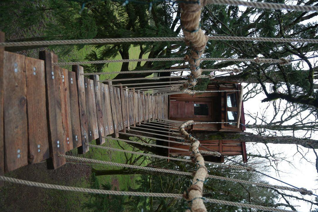 Die Treehouse Guys haben mal wieder alles gegeben. Doch wie werden der Baumkletter-Meister und dessen Familie auf das neue Baumhaus reagieren? - Bildquelle: 2015, DIY Network/Scripps Networks, LLC. All Rights Reserved.