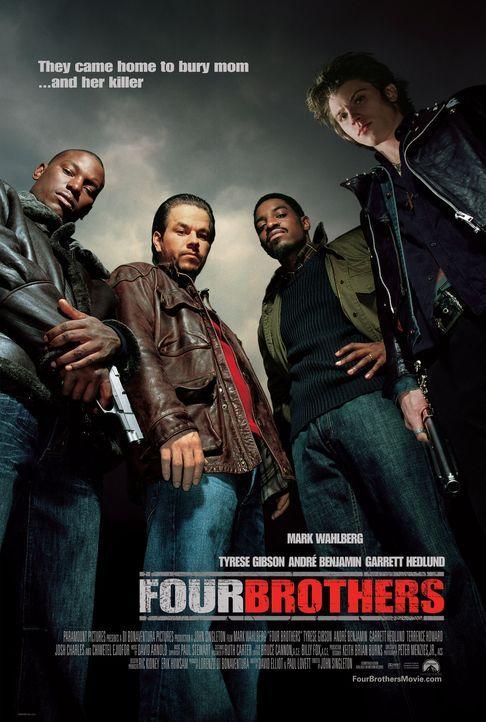 Vier Brüder - Plakatmotiv mit (v.l.n.r.) Tyrese Gibson, Mark Wahlberg, Andre Benjamin, Garrett Hedlund - Bildquelle: TM &   2006 Paramount Pictures. All Rights Reserved.