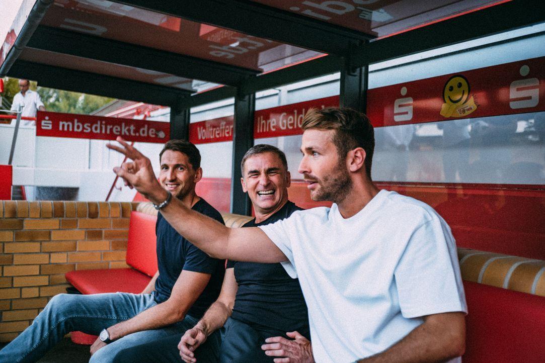 (v.l.n.r.) Renè Adler; Stefan Kuntz; Christian Düren - Bildquelle: Max Beutler ProSieben / Max Beutler