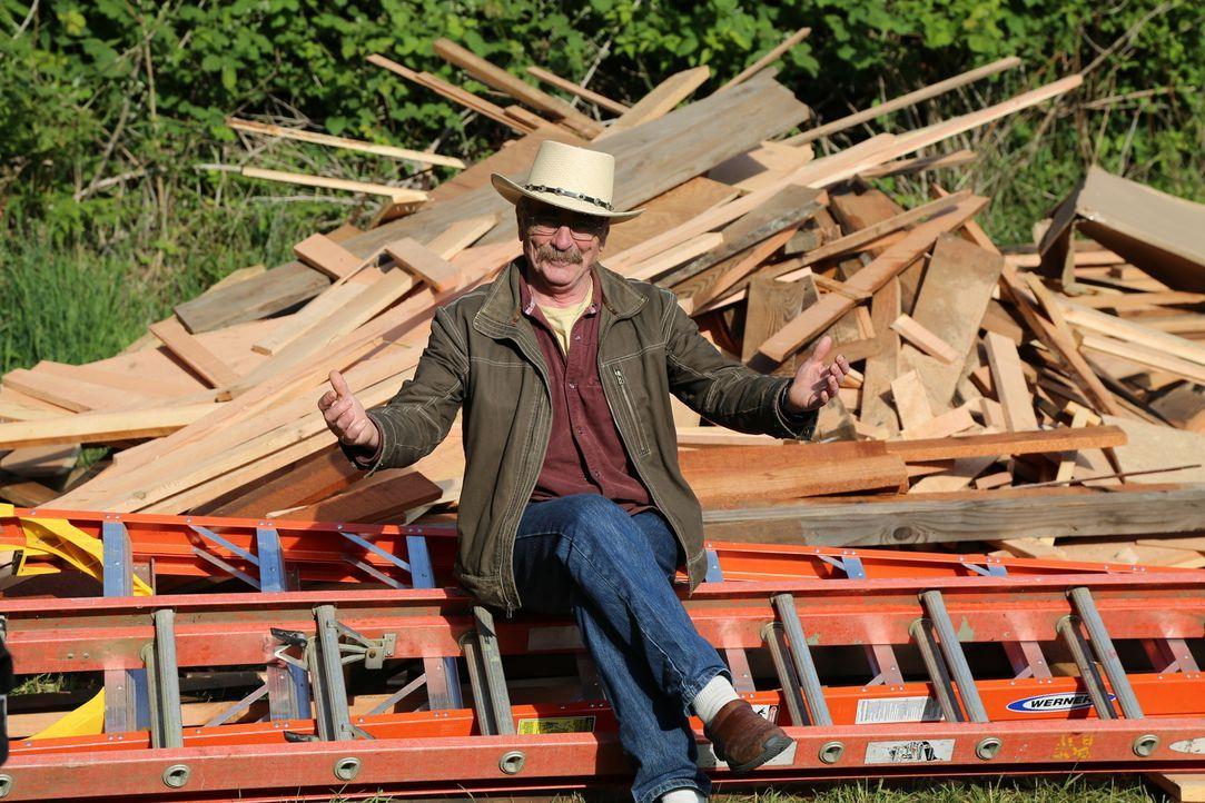 Im Jahr 1990 hat er sein erstes Baumhausgebaut und gilt daher als Pionier der Baumhaus Welt: Treehouse Guy Michael Garnier ... - Bildquelle: 2015, DIY Network/Scripps Networks, LLC. All Rights Reserved.