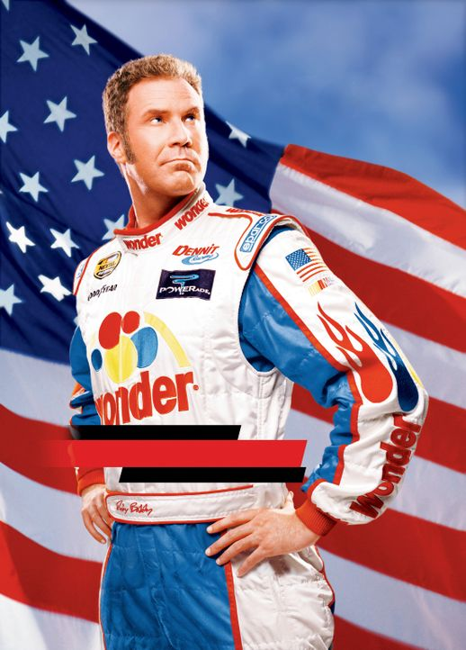 Ricky Bobby (Will Ferrell) ist ein gefeierter Rennfahrer, der zusammen mit seinem Kindheitsfreund ein Tourenwagen-Rennen nach dem nächsten gewinnt .... - Bildquelle: Copyright   2006 Sony Pictures Television International.