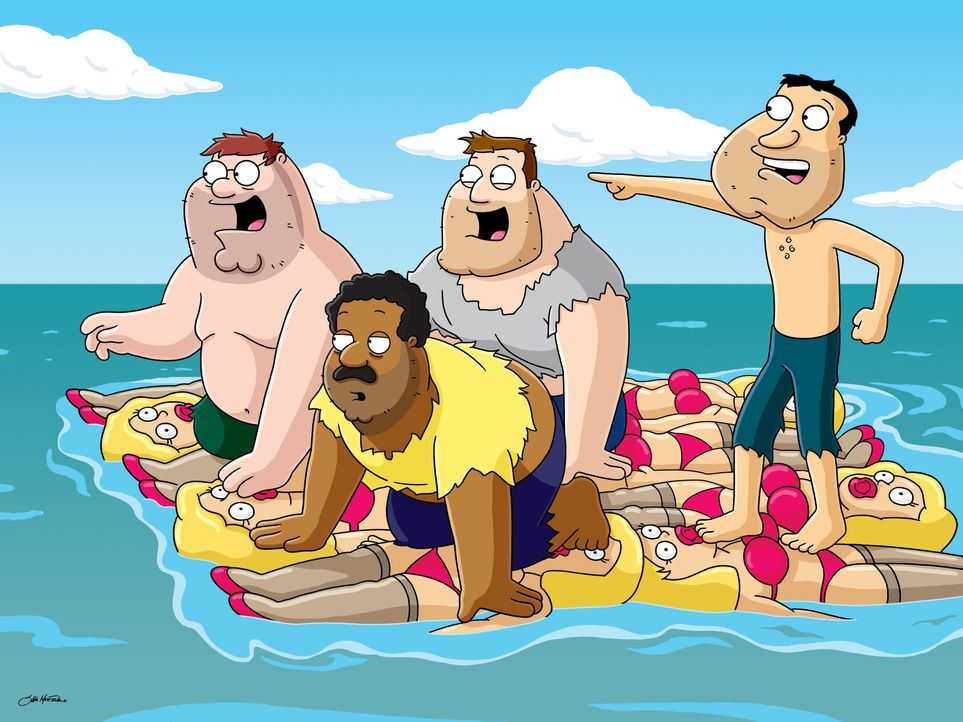 (v.l.n.r.) Peter Griffin; Cleveland Brown; Joe Swanson; Glenn Quagmire - Bildquelle: 2005 Fox and its related entities. All rights reserved.