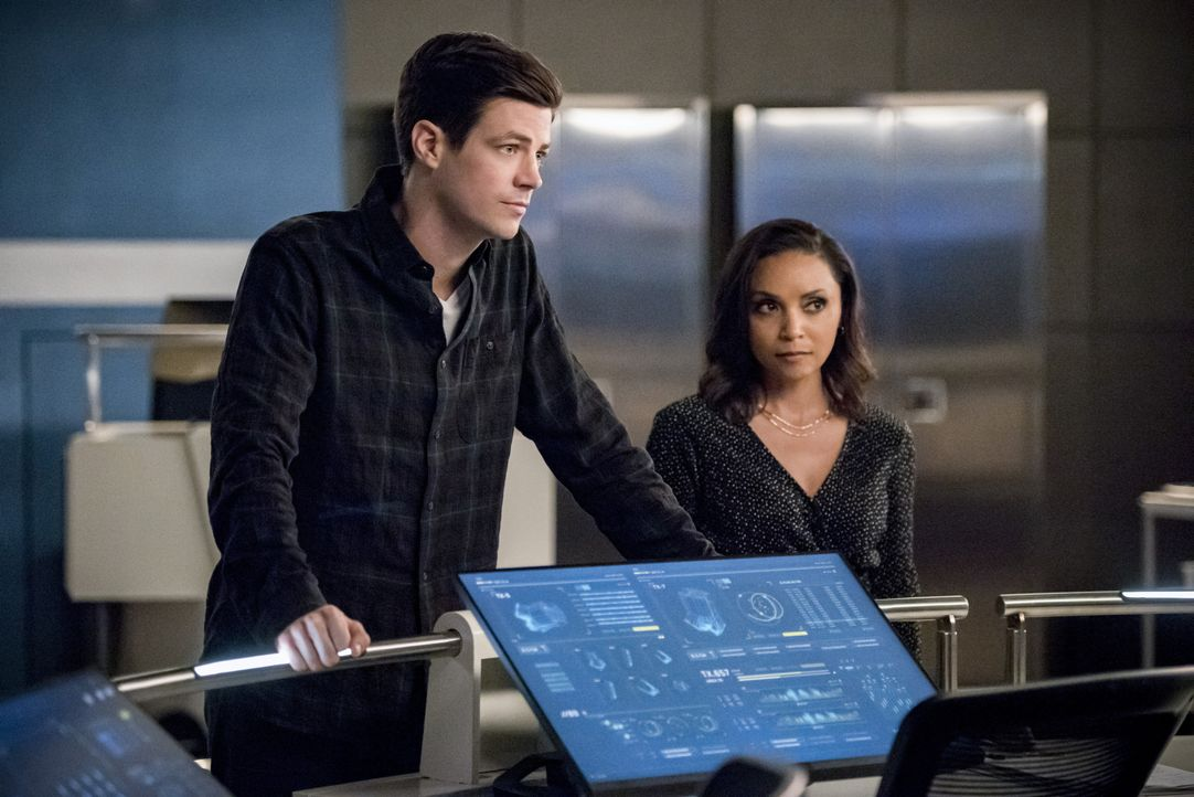 Barry Allen (Grant Gustin, l.); Cecile Horton (Danielle Nicolet, r.) - Bildquelle: 2019 The CW Network, LLC. All rights reserved.