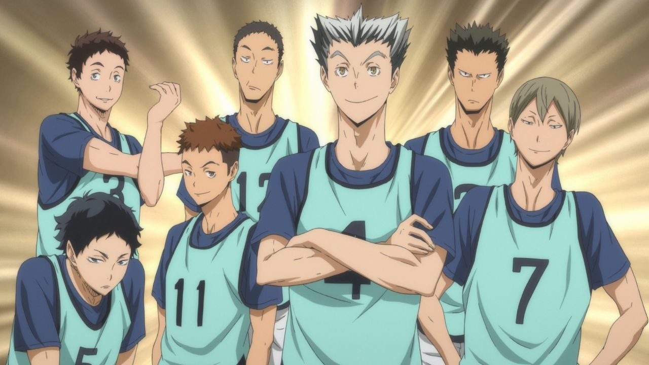 "Volleyballteam der Fukurodani Akademie - Bildquelle: H. Furudate / Shueisha, ""HAIKYU!! 2nd Season"" Project, MBS  All Rights Reserved."