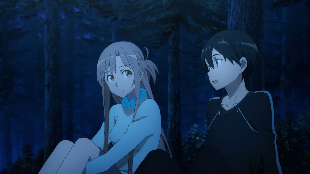 Asuna Yuuki (l.); Kirito Kirigaya (r.) - Bildquelle: 2016 REKI KAWAHARA/PUBLISHED BY KADOKAWA CORPORATION ASCII MEDIA WORKS/SAO MOVIE Project.