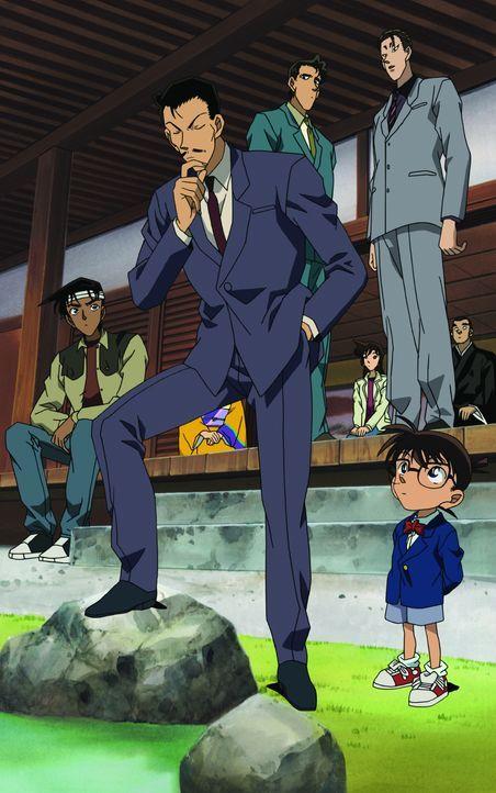 Conan (unten r.), Ran (oben 3.v.r.) und Kogoro (M.) befinden sich gerade in der alten Hauptstadt Kyoto, um einen acht Jahre zurückliegenden Diebstah... - Bildquelle: 2003 GOSHO AOYAMA / SHOGAKUKAN - YTV - NTV - ShoPro - TOHO - TMS All Rights Reserved.