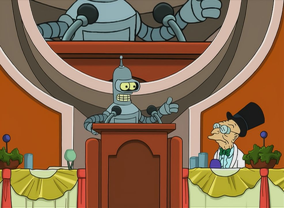 Bender (l.); Professor Farnsworth (r.) - Bildquelle: 1999 Fox and its related entities.  All rights reserved.