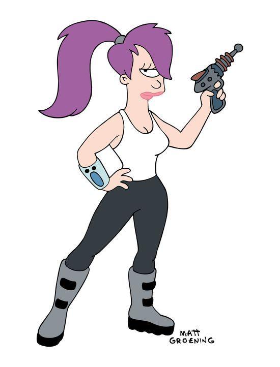 (3. Staffel) - Leela ist die Pilotin des Planet Express-Auslieferungsschiffes. Sehr hübsch, sehr außerirdisch, sehr einäugig. - Bildquelle: und TM Twenthieth Century Fox Film Corporation - Alle Rechte vorbehalten