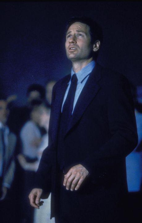 """Mulder (David Duchovny) wird in einer Kleinstadt in Kansas mit dem """"Regenmacher"""" konfrontiert, einem Mann, der das Wetter je nach Gefühlslage manipu... - Bildquelle: TM +   2000 Twentieth Century Fox Film Corporation. All Rights Reserved."""