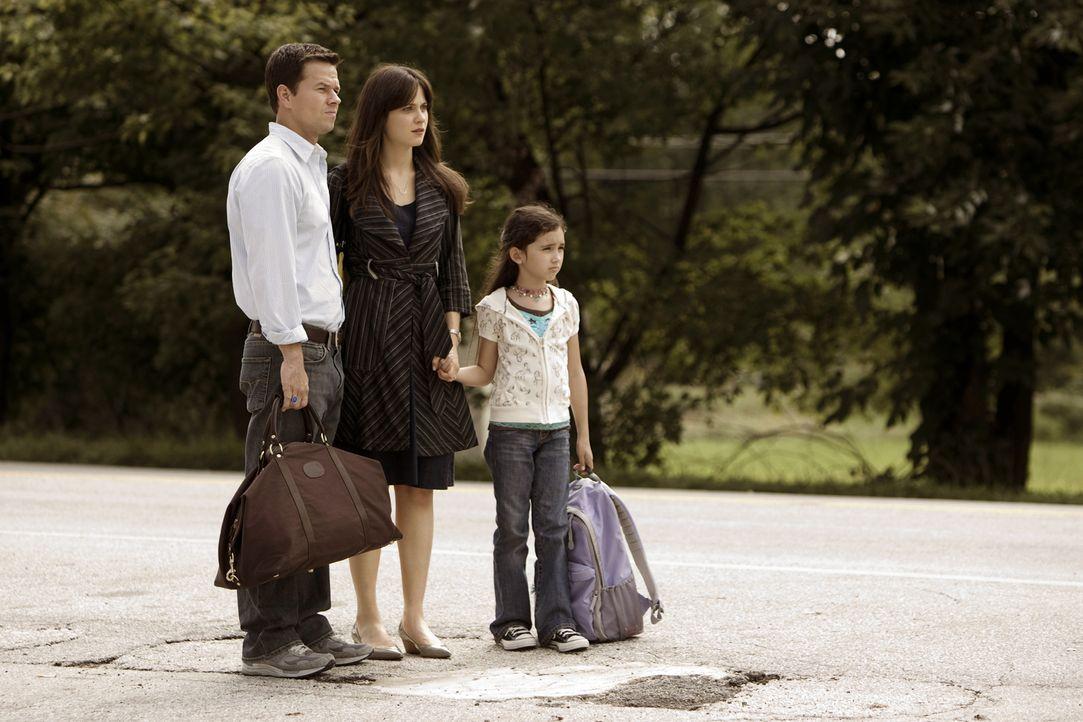 Es gibt kein Entkommen: (v.l.n.r.) Elliot (Mark Wahlberg), Alma (Zooey Deschanel) und Jess (Ashlyn Sanchez) ... - Bildquelle: 20th Century Fox