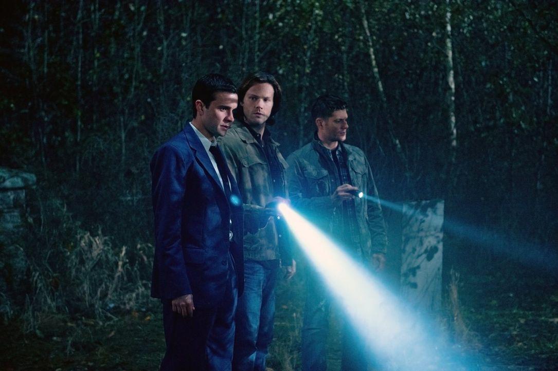 Dank Henry (Gil McKinney, l.) lernen Sam (Jared Padalecki, M.) und Dean (Jensen Ackles, r.), welches Familienerbe sie tatsächlich in sich tragen ... - Bildquelle: Warner Bros. Television