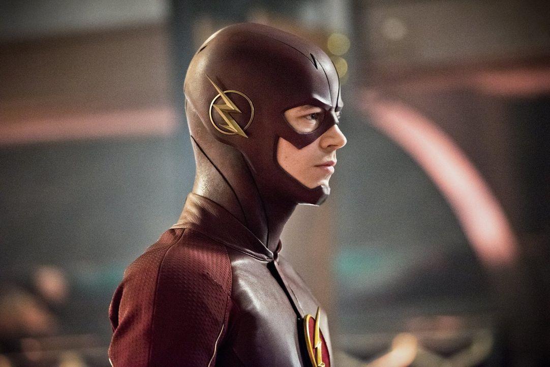 Als Barry alias The Flash (Grant Gustin) bewusst wird, dass er in der Zeit zurückgereist ist, ahnt er noch nicht, was diese Tat für Folgen hat ... - Bildquelle: Warner Brothers.