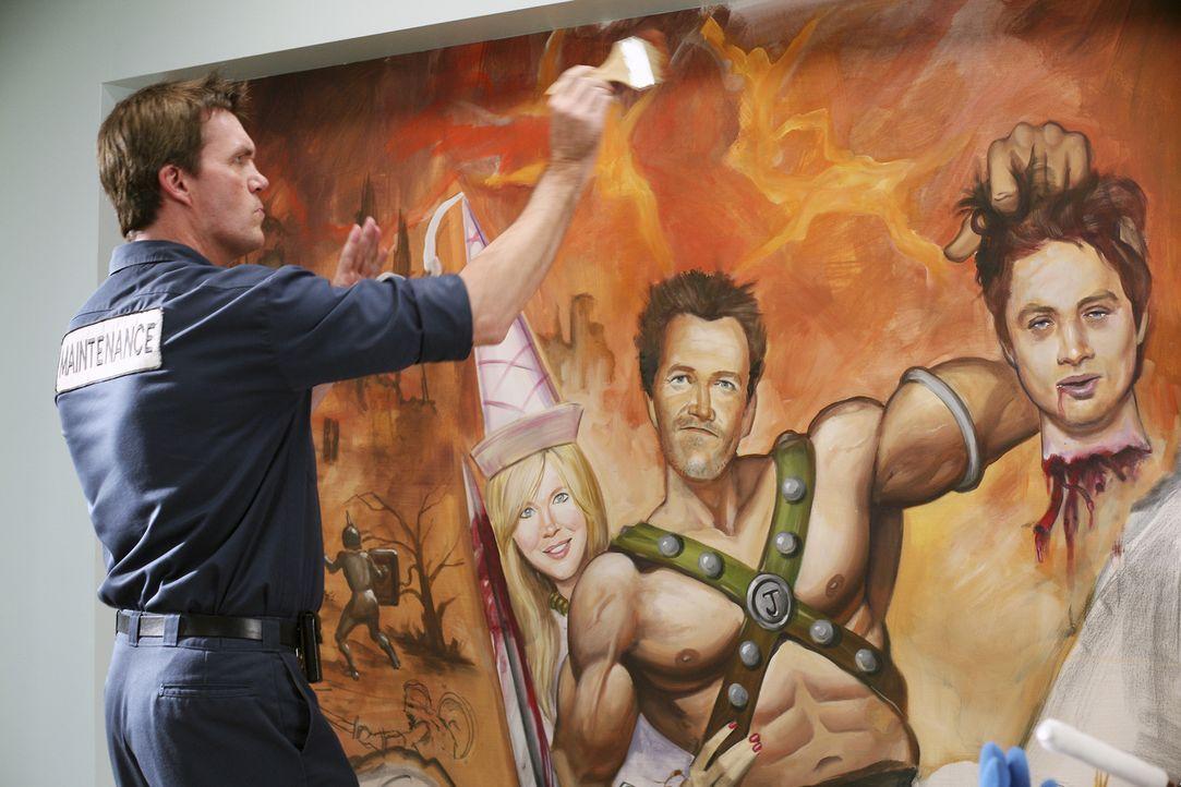 Der Hausmeister (Neil Flynn) entpuppt sich als Künstler ... - Bildquelle: Touchstone Television