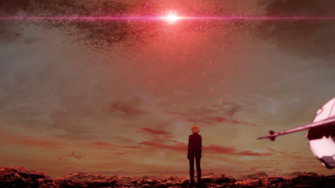Aufblitzender Lichtstrahl! Das Leuchten der Wellenkanone - Bildquelle: S.NISHIZAKI/VOYAGER ENTERTAINMENT/STAR BLAZERS 2202 PRODUCTION COMMITTEE