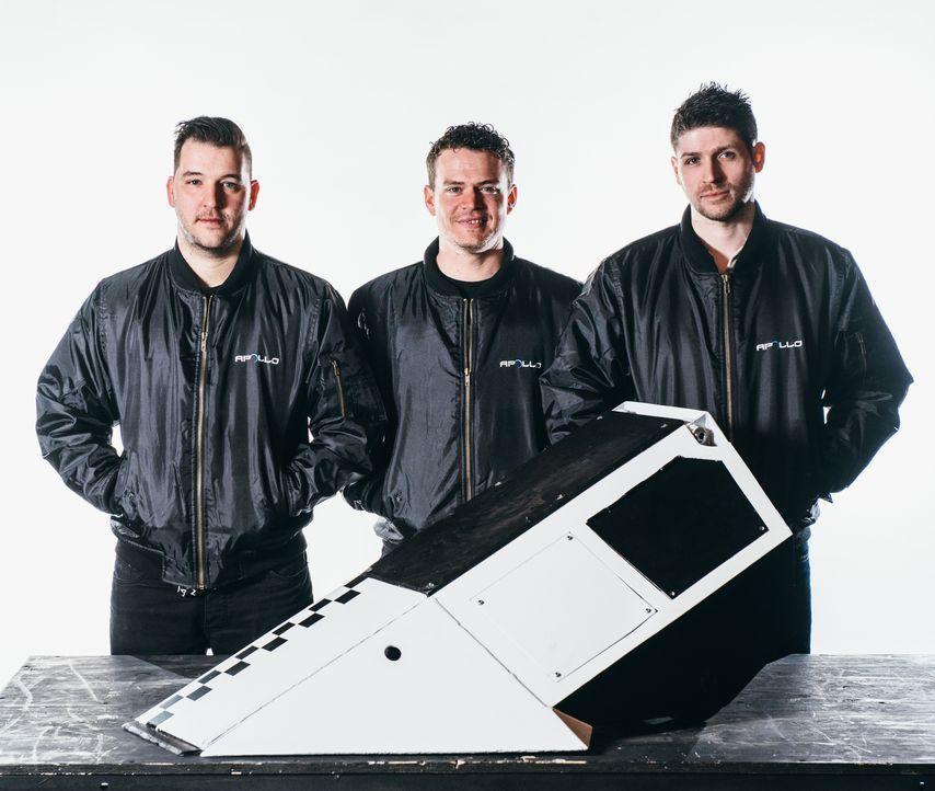 Wird sich der raketenähnliche Roboter von Team Apollo in der Kampfarena gegen die Maschinen der andferen Teams behaupten können? - Bildquelle: Andrew Rae
