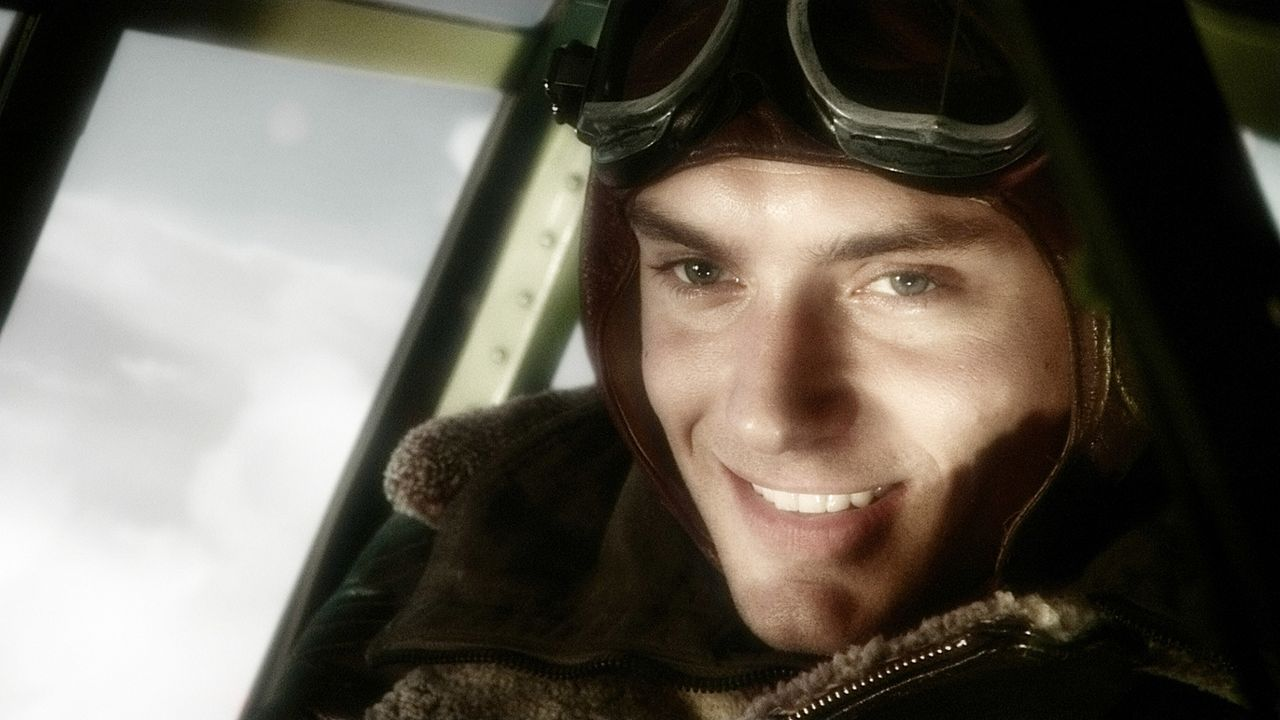"Flieger-As Joe ""Sky Captain"" Sullivan (Jude Law) macht sich auf, Doktor Totenkopfs Hauptquartier aufzuspüren und dem Mad Scientist Einhalt zu gebiet... - Bildquelle: TM & Copyright   Brooklyn Films II And Filmauro S.R.L."