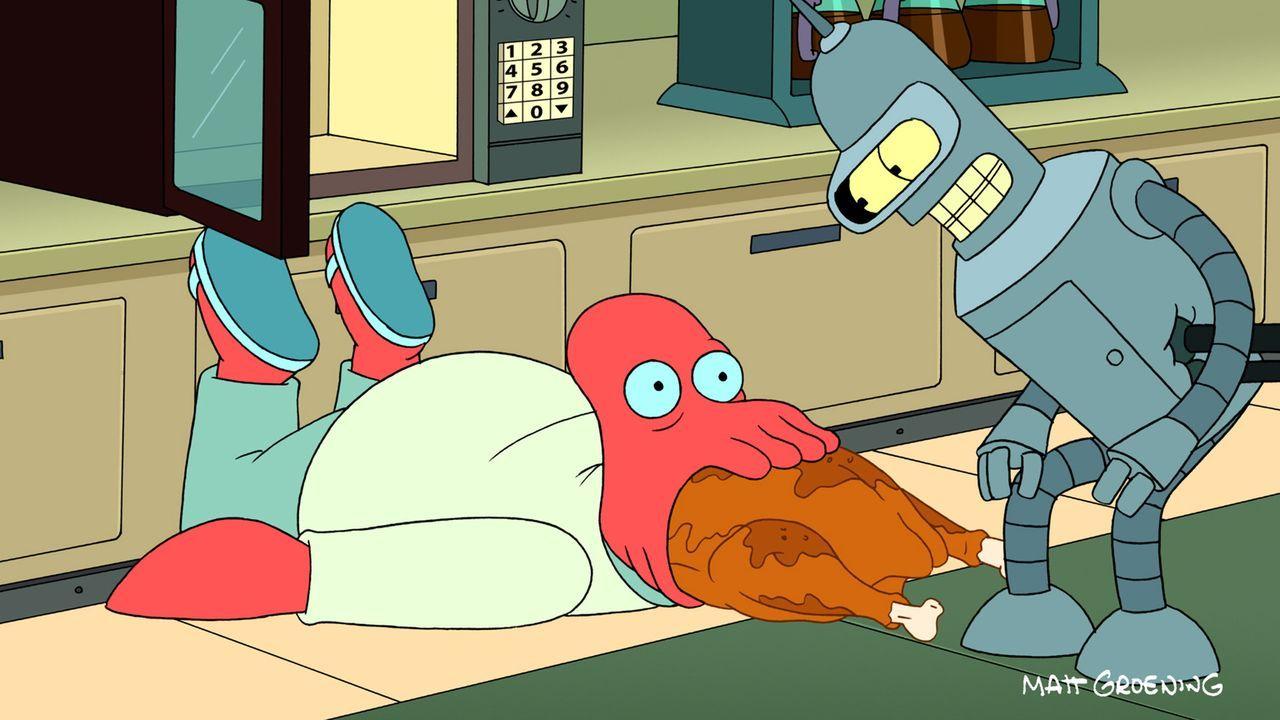 Zugegeben, Bender (l.) war schon bevor er technisch aufgemotzt wurde Zoidberg (l.) überlegen ... - Bildquelle: 2011 Twentieth Century Fox Film Corporation. All rights reserved.