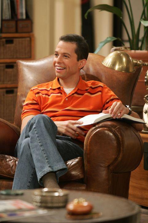 Hofft, dass seine Sohn Jake, die Lektion in Ethik begriffen hat: Alan (Jon Cryer) ... - Bildquelle: Warner Brothers Entertainment Inc.