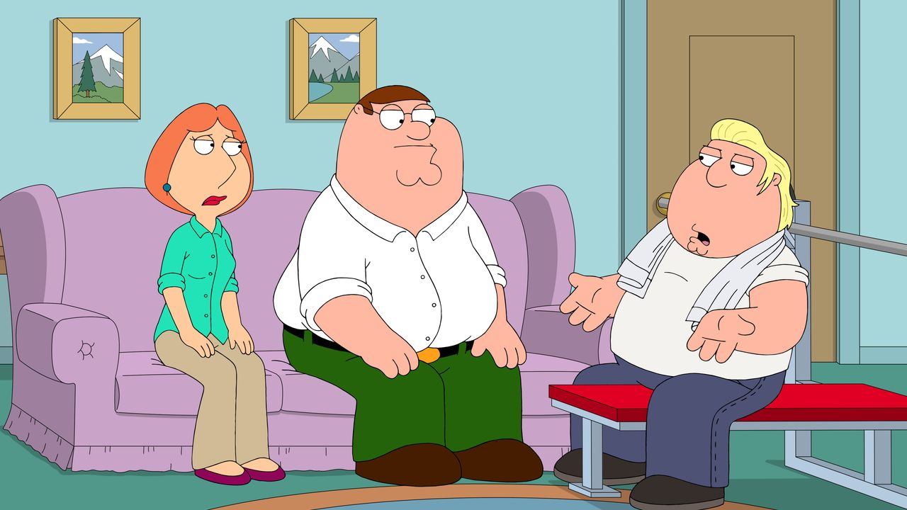 (v.l.n.r.) Lois Griffin; Peter Griffin; Chris Griffin - Bildquelle: 2018-2019 Fox and its related entities.  All rights reserved.