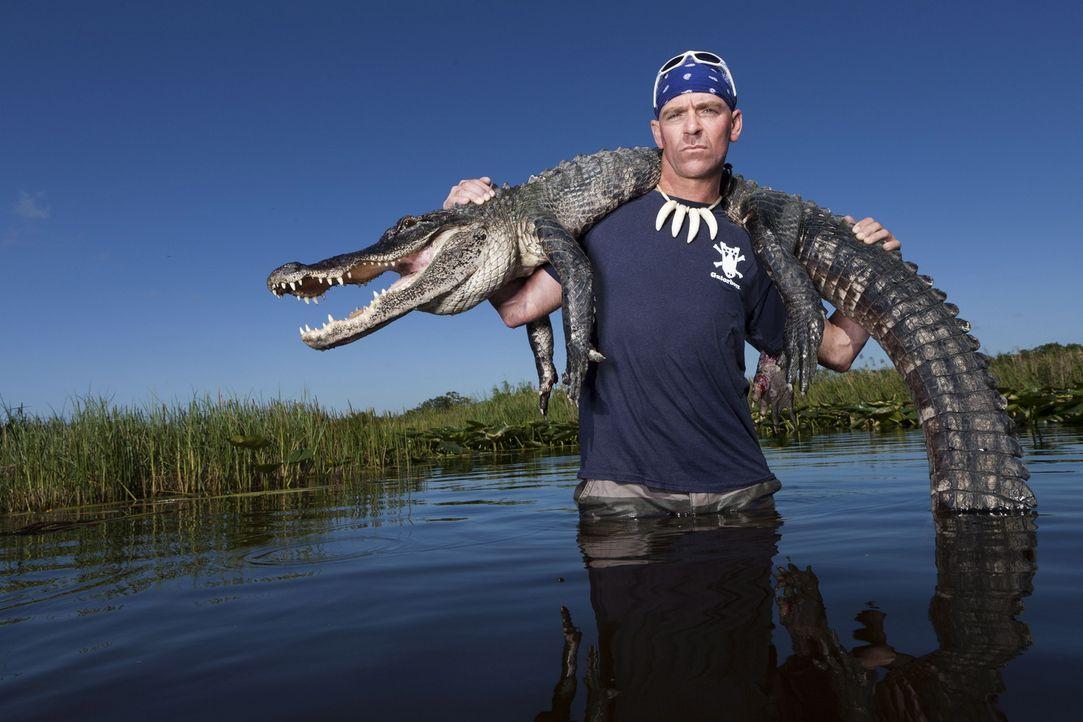 (1. Staffel) - Gator Boy Paul Bedard kümmert sich um Krokodile, die sich an ungewöhnliche Orte verirrt haben und um deren Schutz vor Wilderern ... - Bildquelle: Bob Croslin 2011 Discovery Communications