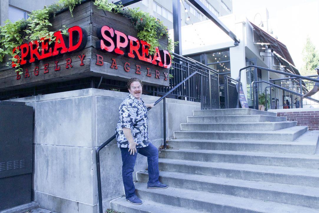 """Casey Webb reist nach Philadelphia, um der """"Spread Bagelry"""" einen kulinarischen Besuch abzustatten ... - Bildquelle: 2017, The Travel Channel, LLC. All Rights Reserved."""
