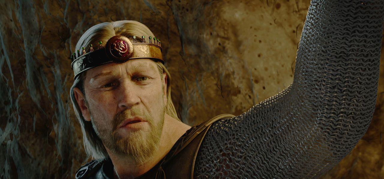 Stellt sich dem Monster Grendel: Beowulf (Ray Winstone) ... - Bildquelle: 2007 Warner Brothers International Television Distribution Inc.