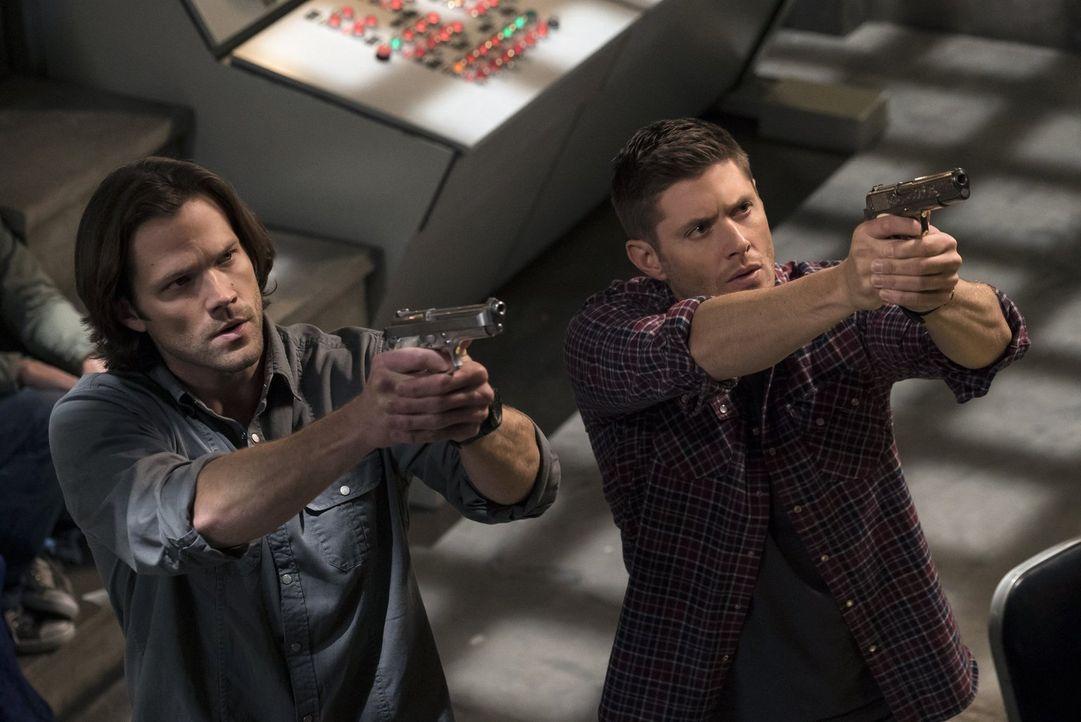 Noch ahnen Dean (Jensen Ackles, r.) und Sam (Jared Padalecki, l.) nicht, dass eine Gruppierung Jagd auf sie macht, während sie mit allen Mitteln ver... - Bildquelle: 2014 Warner Brothers