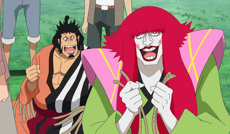 Kinemon (l.); Kanjuro (r.) - Bildquelle: Eiichiro Oda/Shueisha, Toei Animation