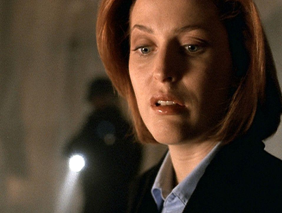 Scully (Gillian Anderson) entdeckt bei der Durchsuchung einer Farm ein todgeglaubtes Entführungsopfer. - Bildquelle: TM +   2000 Twentieth Century Fox Film Corporation. All Rights Reserved.