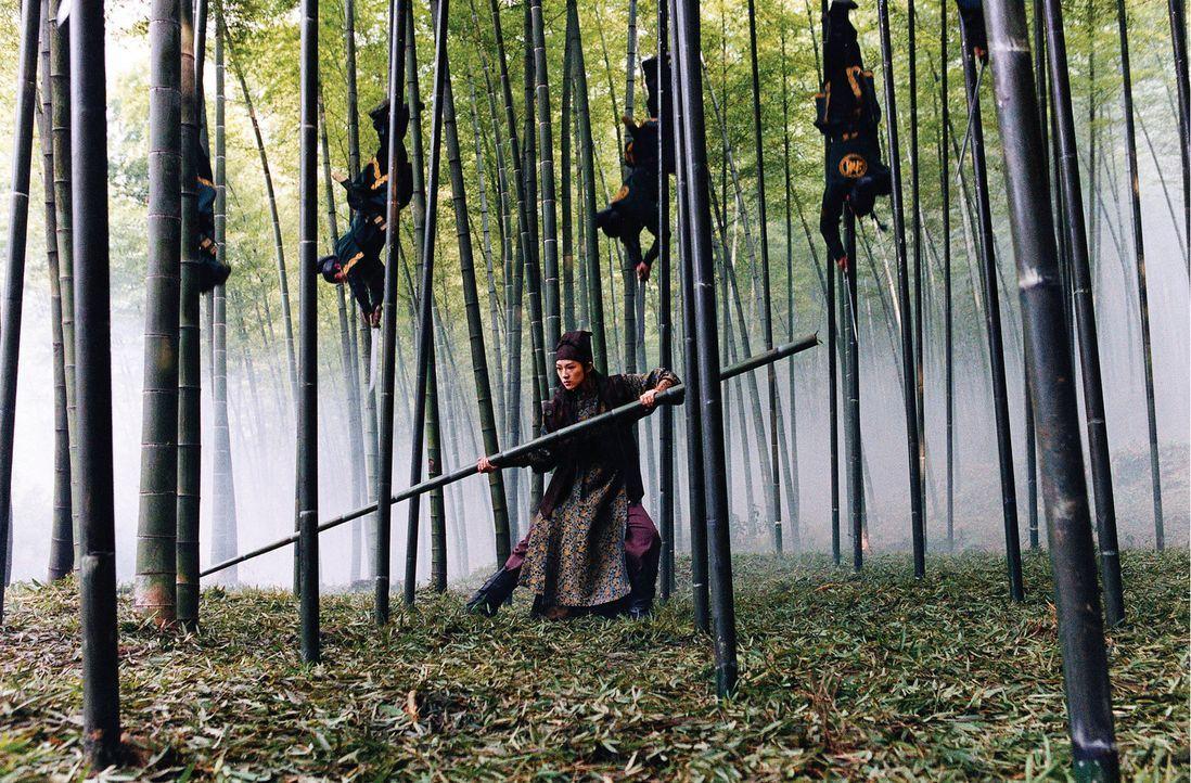 Plötzlich werden die Flüchtenden aus der Luft attackiert. Soldaten gleiten wie Akrobaten von den Wipfeln der Bambusbäume hinunter. Ein Regen von... - Bildquelle: Constantin Film
