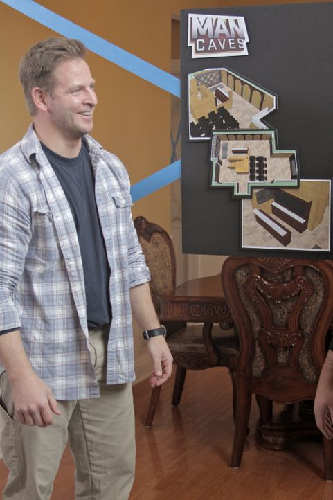 Um den Flair von Italien in den Keller von Gabe zu bringen, hat sich Jason Cameron (Bild) einiges einfallen lassen ... - Bildquelle: Nathan Frye 2011, DIY Network/Scripps Networks, LLC.  All Rights Reserved.