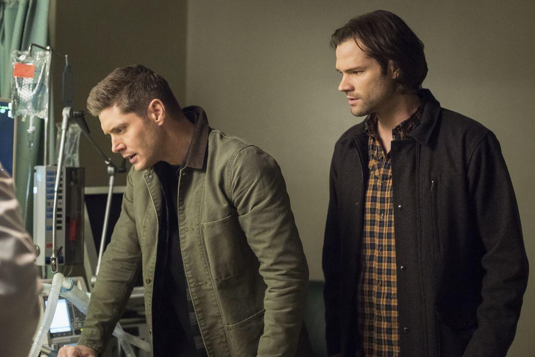 Dean Winchester (Jensen Ackles, l.); Sam Winchester (Jared Padalecki, r.) - Bildquelle: Dean Buscher 2018 The CW Network, LLC All Rights Reserved / Dean Buscher