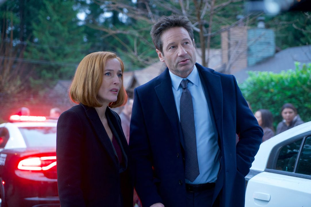 Während Scully (Gillian Anderson, l.) zunächst an einen Mord glaubt, entdeckt Mulder (David Duchovny, r.) in den Überlieferungen über den kleinen Or... - Bildquelle: Shane Harvey 2018 Fox and its related entities. All rights reserved. / Shane Harvey